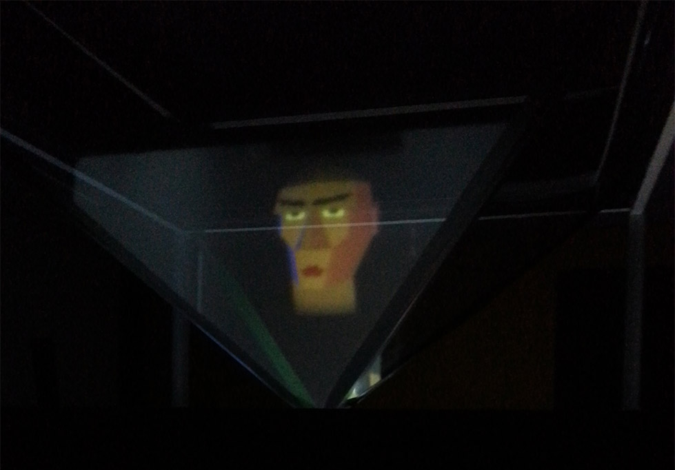 Fortune Teller Hologram Head